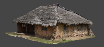 Figure 3. 3D model of a Swahili house using SfM software. Photo Dav Smith. (click to enlarge).