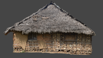 Figure 4. Perspective-free elevation of a Swahili house, ready to be drawn. Photo: Dav Smith (click to enlarge).
