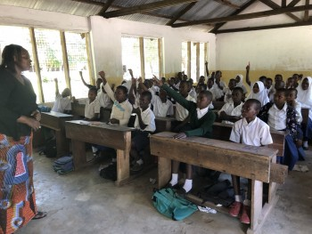 A class at Pangani Primary school
